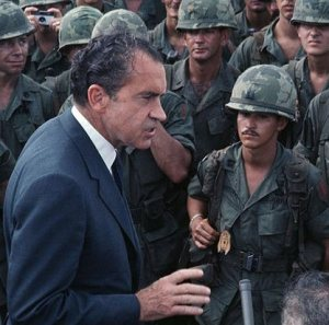 Nixon and the Troops