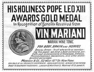 The pope awards coca-wine