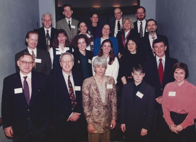 David F. Musto hosts drug policy historians, young and experienced, at Yale in 1996.