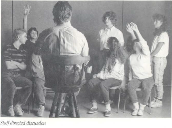 """""""Staff directed discussion."""" From an Atlanta Straight brochure."""