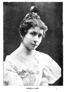 Marcella Lindh, Jellinek's mother's stage name, 1895, the year the Jellineks moved from the U.S. to Budapest.