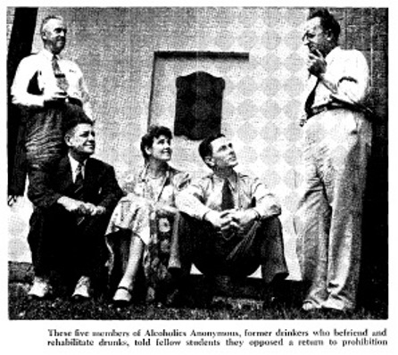 Porter's article's pics included this image of students from AA.  Cherrington's article listed four AA attenders:  Herbert L. Collyer, George G. LaMotte, C.T. Pennoyer, and Mrs. Elizabeth Whitney