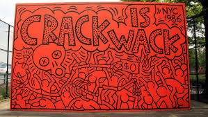 Crack is wack the crack era narrative of keith haring for Crack is wack keith haring mural