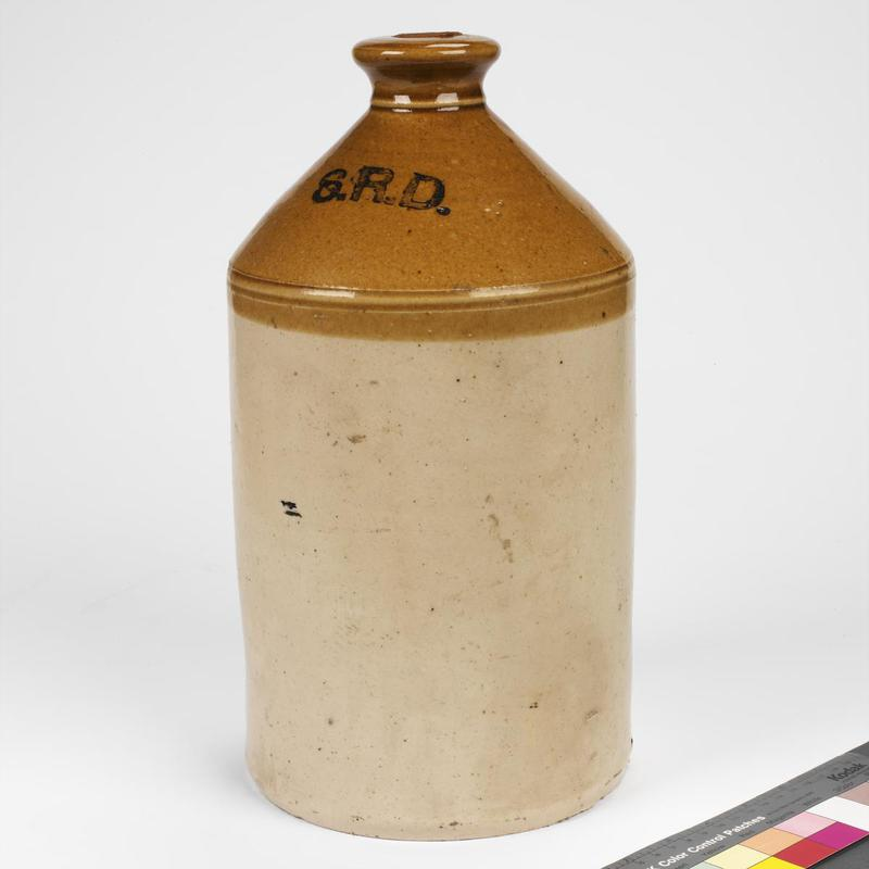 The British Army issued its rum ration in ceramic jars. These usually held either two gallon or one gallons. © IWM (FEQ 802)