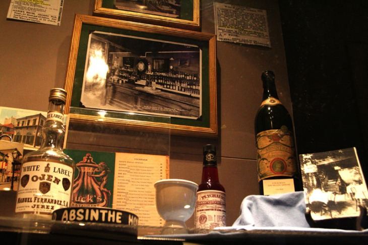 The Museum of the American Cocktail includes an extensive absinthe collection.