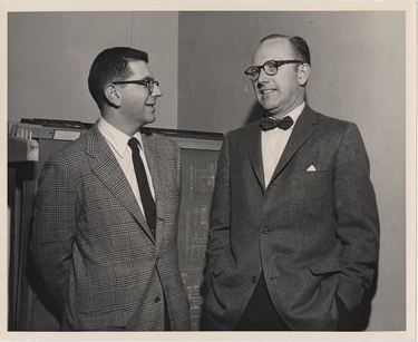 Robert Straus (left) with Howard Bost at the University of Kentucky in 1959 (Kentucky Digital Libaray)