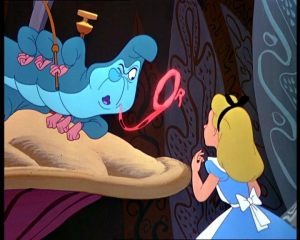"The caterpillar in Disney's 1951 rendition of Alice in Wonderland asks the all-important question, ""Who are you?"""