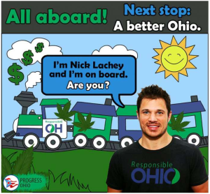 Former member of 98 Degrees Nick Lachay supports Responsible Ohio