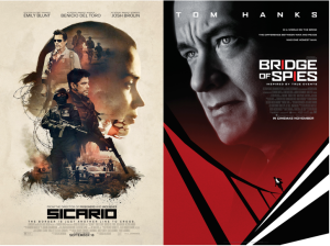 Sicario Poster (Lionsgate Motion Pictures) & Bridge of Spies Poster (DreamWorks Pictures)