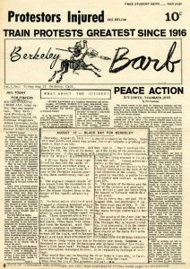 First issue of the Berkeley Barb, August 13, 1965 (Google Images)