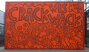 whitney. crack is wack. haring mural